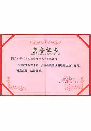 广东省以质取胜企业